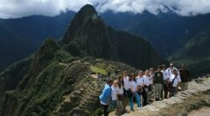 Surveying the ancient citadel of Machu Pichu