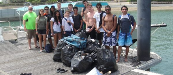 Beach clean up Oman